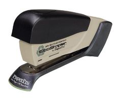 PaperPro Desktop EcoStapler (1752) by Paper Pro. $13.52. The first 30% recycled stapler with the patented PaperPro Desktop stapler features staple-driving technology that provides the power to drive a staple through up to 15 sheets of paper with just one finger. Ergonomic styling with non-slip rubberized handle and base. Stands vertically and horizontally. Drop in loading with full strip capacity (105 staples). Works with standard staples. One rack included. Contains 13...
