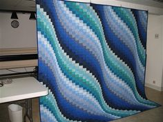 Surf Song Bargello - Quilters Club of America. Pattern can be found in the Twist-and-Turn Bargello Quilts book in a wallhanging size.