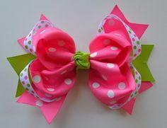 5 Lime Green/Hot Pink Ring Hair Bow Funny Girl Designs,http://www.amazon.com/dp/B00346AO9E/ref=cm_sw_r_pi_dp_19XFrb6F56614DB4
