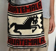 Black Red and White Messenger Bag  Horse Lover by TheMayaMarket
