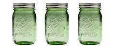 Ball Mason Jars in Spring Green - Colored Mason Jars - Country Living