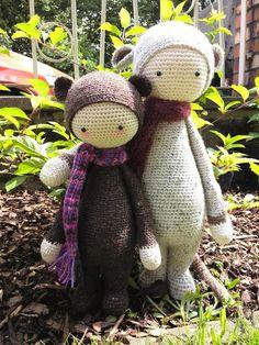 BINA the bear, RADA the rat made by Tina D. / crochet pattern by lalylala
