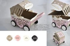"""CindraScrap: Pushchair with Punches - Thinlits """"Planters"""" and step by step."""