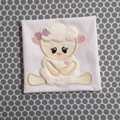 Baby Applique Machine Embroidery Design Cute Lamb by BabyEmbroideryShop on Etsy