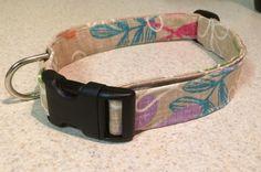 Tiki Tan Print Dog Collar Adjustable Fabric Tiki by PawesomePups