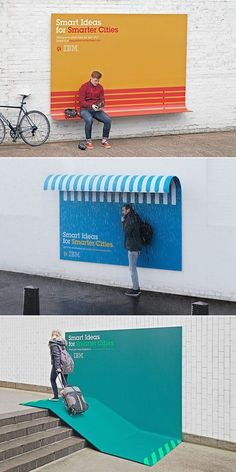 """""""It's interesting to see advertising helping people in every day situations."""" - IBM Turns Its Ads Into Useful Urban Furniture"""