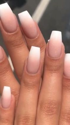 Nude ombre nails with white tip. Are you looking for short coffin acrylic nail design that are excellent for this season? See our collection full of cute short coffin acrylic nail design ideas and get inspired! Acrylic Nails Coffin Short, Simple Acrylic Nails, Summer Acrylic Nails, Best Acrylic Nails, Acrylic Nail Designs, Summer Nails, Coffin Acrylic Nails, Nail Designs Bling, Simple Nails