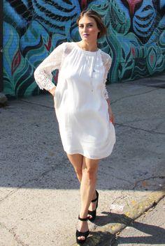 White Quarter Length Sleeve Sequin Midi Dress | USTrendy