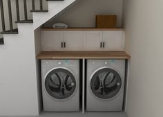 Practical Home laundry room design ideas 2018 Laundry room decor Small laundry room ideas Laundry room makeover Laundry room cabinets Laundry room shelves Laundry closet ideas Pedestals Stairs Shape Renters Boiler Ikea Laundry Room, Basement Laundry, Laundry Closet, Laundry Room Storage, Small Laundry, Laundry Room Design, Cupboard Storage, Kitchen Storage, Basement Stairs