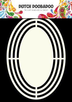 470.713.120 Dutch Doobadoo Shape Art Ovaal