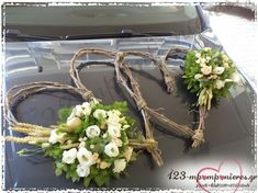 Wedding Car, Diy Wedding, Decoration, Floral Wreath, Wreaths, Weddings, Inspiration, Bridesmaids, Home Decor