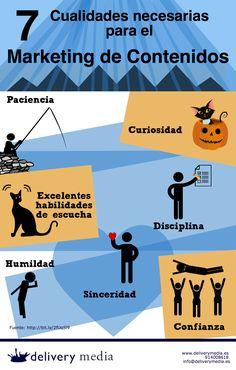 7 cualidades necesarias para el Marketing de Contenidos #infografia