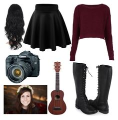 """""""Filming w/ Dodie (Doddleoddle)"""" by suckmybarakat ❤ liked on Polyvore featuring Forever 21 and Topshop"""