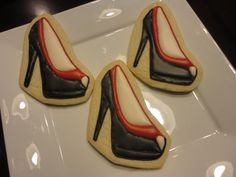 Items similar to Black/ Red Platform Heels! Wow your guests for any stylish event. Especially for a shoe lover! on Etsy Shoe Cookies, Sugar Cookies, Red Platform, Cocktails, Drinks, Pumps, Heels, Decorated Cookies, Cookie Decorating