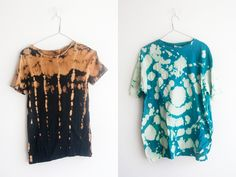 bleach/tie dye ideas How To Tie Dye, How To Dye Fabric, Black And Gold Outfit, Creative Outlet, Creative Ideas, Batik Fashion, Bleach Tie Dye, Batik Pattern, Diy Crafts To Do