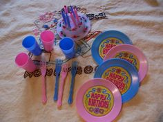 miniature birthday party for four by ricracandbuttons on Etsy