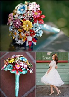 Vintage-Inspired Brooch Bouquets « Budget Weddings