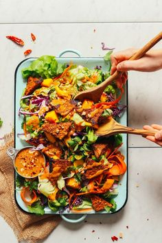 Vibrant Mango Salad with Peanut Dressing