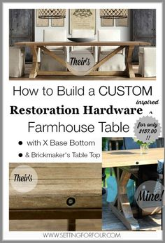 How to Build a Stylish X base Farmhouse Table for only $157.00