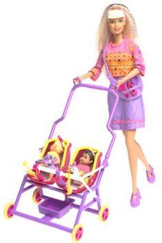Mattel - Barbie Doll 2001 Stroll' N Play Barbie & Krissy New Old Stock Unopened for sale online Barbie Doll Set, Barbie 2000, Baby Barbie, Barbie Dream, Mattel Barbie, Barbie And Ken, Baby Dolls, Pregnant Barbie, Barbie Happy Family