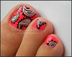 @MissJenFABULOUS This pedicure is so cute and I thought of you and your awesome tutorials! I'd love to see your spin on it!!