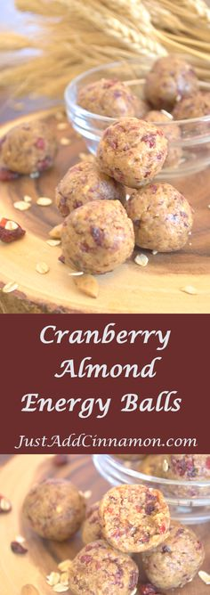 Cranberry Almond Energy Balls Cranberry Almond Energy Balls Nelly NneellyyBerry Fitness Rezepte Gluten free vegan and paleo friendly these cranberry almond energy balls are […] detox recipes protein ball Paleo Protein Balls, Vegan Energy Balls, Healthy Protein Snacks, Protein Bites, Date Energy Balls, Date Balls, Protein Energy, Energy Bars, Protein Foods