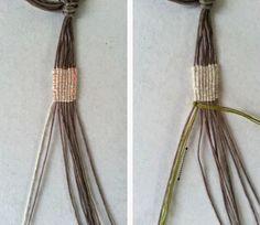 free macrame tutorial and pattern Bracelet Knots, Bracelet Crafts, Macrame Bracelets, Jewelry Crafts, Leather Bracelet Tutorial, Macrame Bracelet Tutorial, Diy Friendship Bracelets Patterns, Textile Jewelry, Jewellery