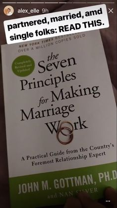 The seven principles for making marriage work Books To Buy, I Love Books, Good Books, Books To Read, My Books, Book Club Books, Book Nerd, Reading Lists, Book Lists