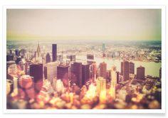 Manhattan's Skyline als Premium Poster