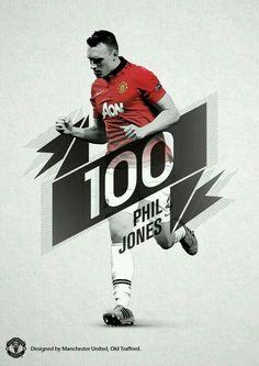 Phil Jones 100 appearance