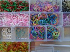 Selling for 25 cents rubber band bracelets