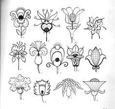 Стилизованные цветы (не русское)