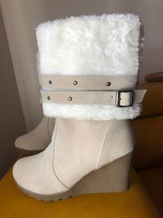Shearling Boots, Shoes, Fashion, Crotch Boots, Moda, Zapatos, Shoes Outlet, Fashion Styles, Shoe