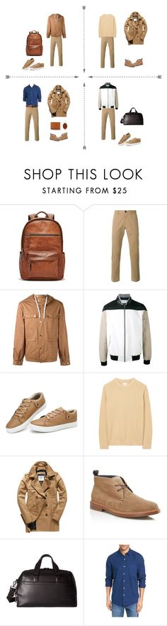 """""""For men mix 5"""" by tikhonova-tatiana on Polyvore featuring FOSSIL, PS Paul Smith, Kenzo, Les Benjamins, Gant Rugger, Superdry, Cole Haan, Tumi, Faherty и Polo Ralph Lauren"""