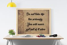 Printable Funny Quote by Elbert Hubbard -- Instant Download -- Encouraging quotes -- Quote digital prints -- Inspirational art quotes by DigitalCitizen on Etsy