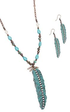 Southern Junkie Light as a Feather Turquoise & Copper Jewelry Set | Cavender's