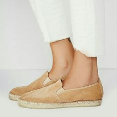 "Free People || Suede Freeway Espadrille [Size 37] ""Freeway"" espadrille flat from Free People. Color is sand/tan. New in box. Size on box is a 37, which Posh converts as a US 7, however I find this converts more as a 6.5 Free People Shoes"