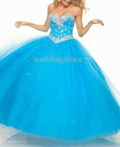 Wholesale 2013 Wonderful Crystal Sweetheart Chiffon Blue Chiffon quinceanera dress prom dresses hevening dress, Free shipping, $96.34/Piece | DHgate Mobile