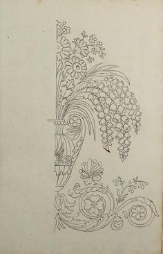 Embroidery Patterns - Directoire designs for textiles Stencil Patterns, Pattern Art, Textile Patterns, Pattern Design, Embroidery Stitches, Embroidery Patterns, Hand Embroidery, Coloring Books, Coloring Pages