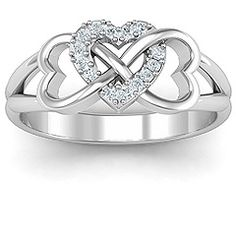 Triple Heart Infinity Ring #jewlr this would be the most perfect promise ring!! #onecanhope