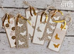 Stampin' Stud: OSAT Monochromatic May, Gold, Crumb Cake, Vanilla, Floral Wings, Stampin' Up!, Bookmark Set, Gift, Butterflies, Neutral Designer Paper Pack