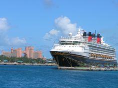 Walt Disney Cruise in the Bahamas, Paradise Island Atlantis, taken from a tour boat as we were returning to the ship. Disney Dream Cruise Ship, Disney Vacation Club, Disney Cruise Line, Cruise Vacation, Disney Vacations, Royal Cruise, Floating Hotel, Castaway Cay, Bahamas