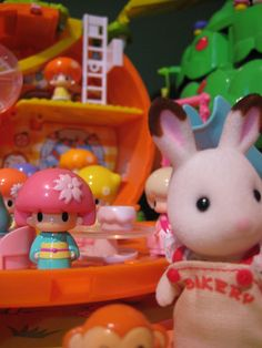 cute worlds collide or choco rabbit lost in koedachan village by chriscute, via Flickr