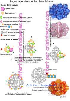 schéma perles bague japonaise