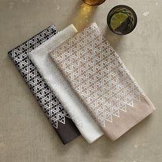 Metallic Diamond Printed Napkin Set #westelm