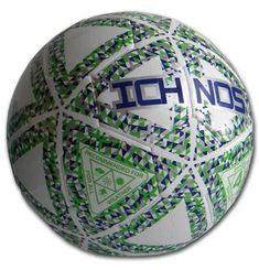 Ichnos Thaima white green blue futsal five a side low bounce ball