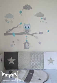 1000 ideas about chambre b b gar on on pinterest - Stickers etoile chambre bebe ...