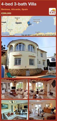 4-bed 3-bath Villa in Benissa, Alicante, Spain ►€299,950 #PropertyForSaleInSpain