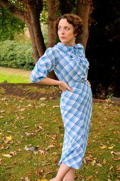 Jemima Mid1930s inspired plaid dress.