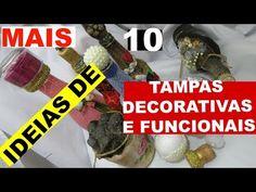 COMO FAZER TAMPAS PARA GARRAFAS. (decorativas) Ft Canal Atelie decoração - YouTube